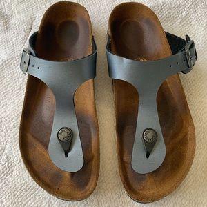 BIRKENSTOCK 5 steel blue sandals